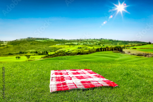Blanket of free space for your decoration and summer sunny day in Tuscany