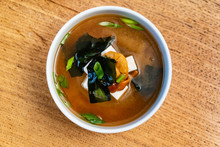 Japanese Miso Soup In Ceramic ...