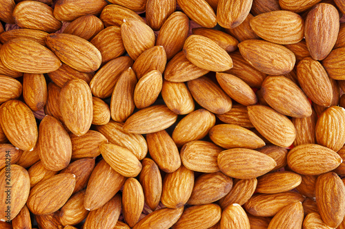 Photo Almonds. Almond Kernels for Background or Texture