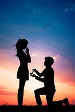Illustration Of Man Proposal Girl