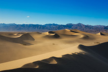 Sand Dunes At Sunset In Death Valley National Park, California