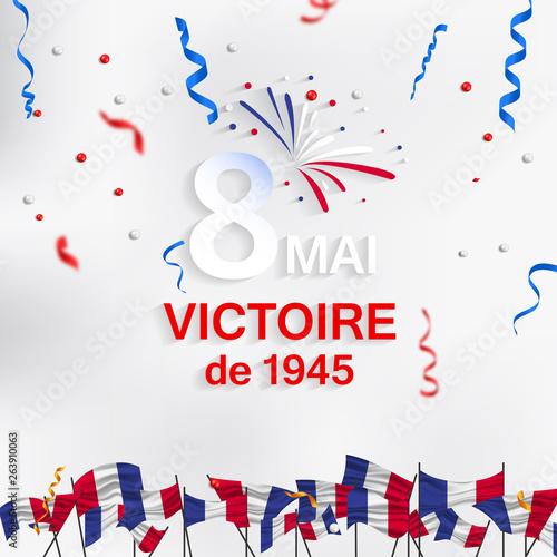 8 Mai - Victoire 1945. 8 Mai Victoire de 1945 Fototapete