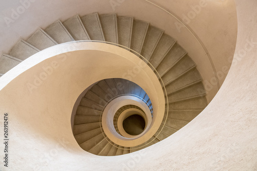 typical modern stone staircase Fotobehang