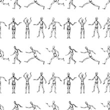 Seamless Pattern Of Sketches O...