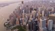 Aerial view One World Trade Centre Manhattan New York