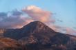 Mountain on the Falasarna beach in Crete