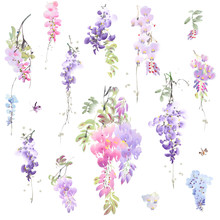 Watercolor Set Beautiful Bouquets,It's Perfect For Greeting Cards,wedding Invitation, Wedding Design,birthday And Mothers Day Cards