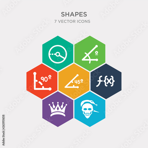 Photo  simple set of skull and snake, royalties, function, acute angle of 45 degrees icons, contains such as icons right angle of 90 degrees, angle acute, radius circle and more