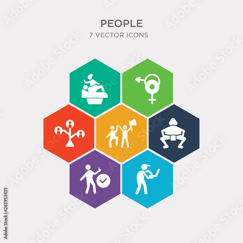 simple set of network worker, yes, rikishi, fans icons, contains such as icons family tree, sex, gynecologist and more Canvas Print