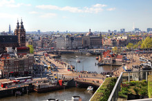 Amsterdam Cityscape With Grand...