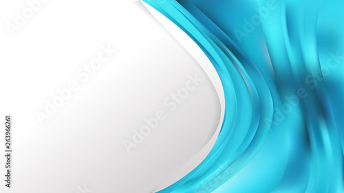 Abstract Cyan Wave Business Background