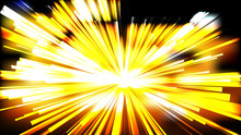 Abstract Black And Yellow Radial Sunburst Background