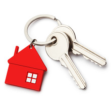 House Keys With Red House Shap...