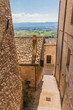 Italy, Umbria, Assisi, town lane