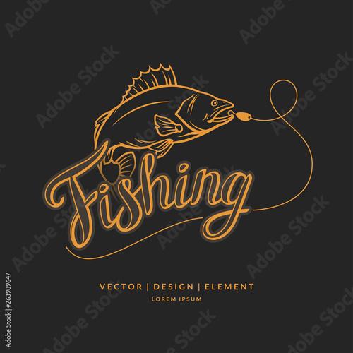 Cuadros en Lienzo  Fishing emblem