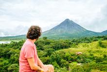 Costa Rica, Man Looking Toward...