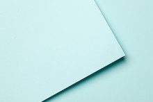 Bright Blue Abstract Blank Pap...