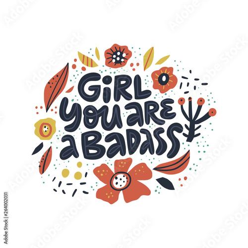 Photo  Ironic girls power quote t-shirt print