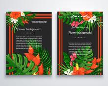 Vector Exotic Flower Backgroun...