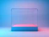 Fototapeta Perspektywa 3d - Empty glass showcase