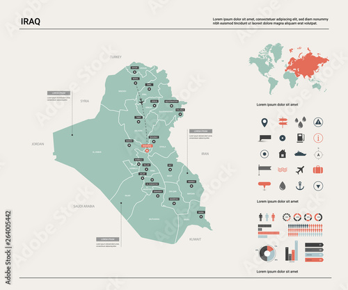 Fotografija  Vector map of Iraq