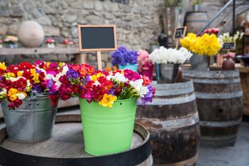 Fototapeta na wymiar Photo of flower bazaar for graphic and web design, for website or mobile app.