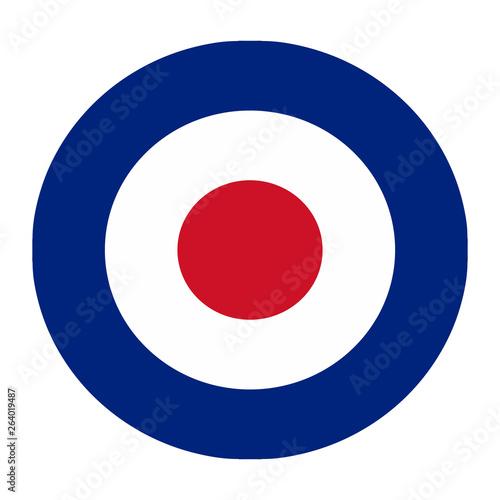 Fotografie, Obraz Royal British air force logo isolated on white background
