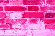 Leinwanddruck Bild - Brick texture with scratches and cracks