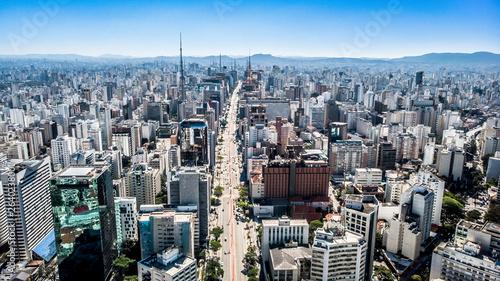 Fotografía Aerial photography done by drone above the buildings of Avenida Paulista in São