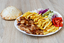Chiken Doner Kebab On The Plat...