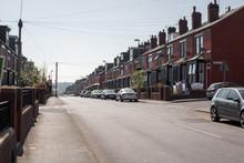 Ulica W Anglii Z Samochodami