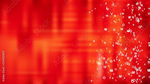 Obraz Red Scattered Alphabet Background Design - fototapety do salonu