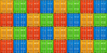 Freight Shipping, Stacked Cargo Containers. Seamless Vector