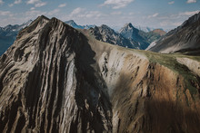 Intriguing Textures, Colours, Shadows In The Rugged Canadian Rockies