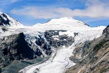 Grossglockner Mountain Glacier Against Blue Sky