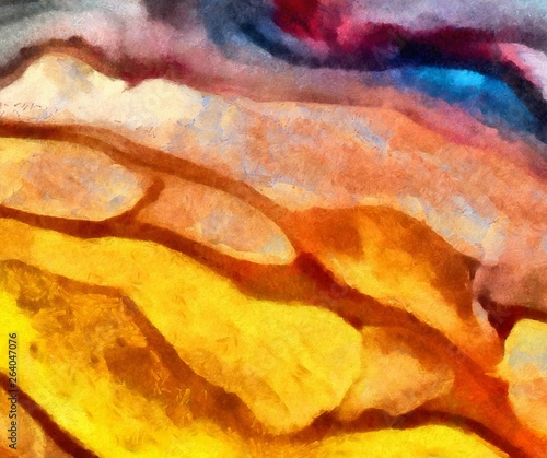 In de dag Macrofotografie Designed grunge texture for creative ideas. Macro brushstrokes of oil. Abstract close up structure background. Colorful HD wallpaper. Simple graphic design template.