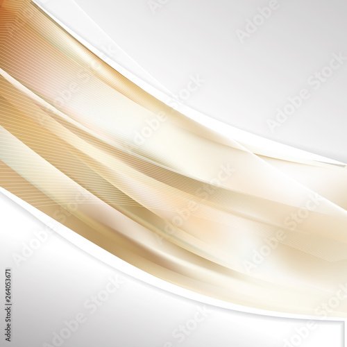 Fotobehang Fractal waves Abstract Brown and White Graphic Background
