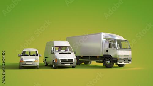 Poster de jardin Pierre, Sable Road transportation fleet green