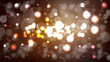 Abstract Dark Brown Bokeh Lights Background