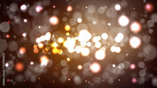 Fototapeta Abstract Dark Brown Bokeh Lights Background obraz na płótnie