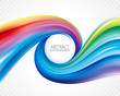 Abstract colorful wave spiral curve background.