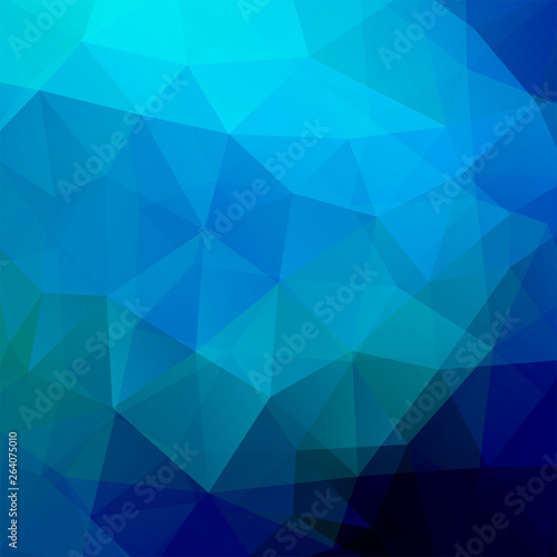 Abstract polygonal vector background. Blue geometric vector illustration. Creative design template. Wall mural