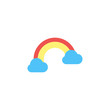 Rainbow Icon Vector Illustration in Flat Style for Any Purpose