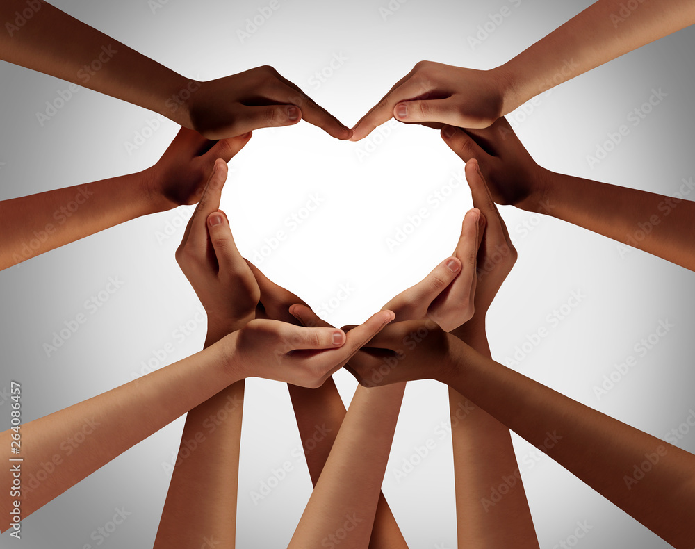 Fototapeta Heart Hands