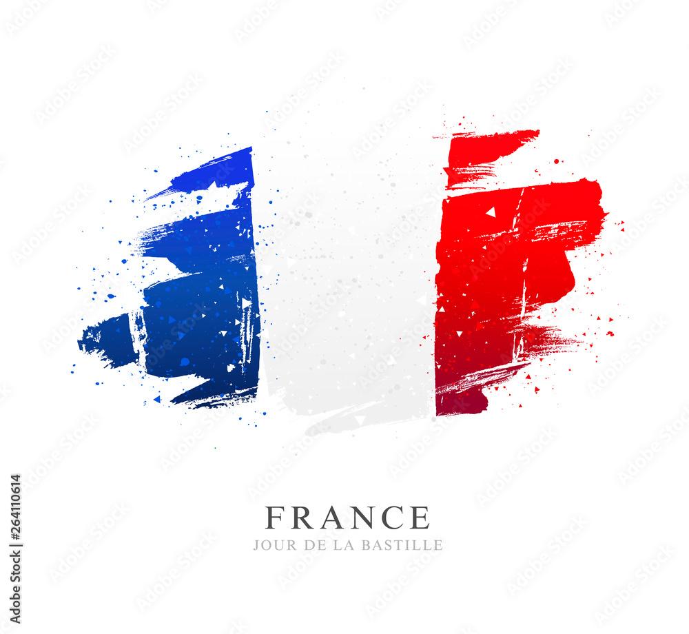 Fototapeta Flag of France. Independence Day. Bastille Day.