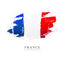Flag Of France. Independence Day. Bastille Day.