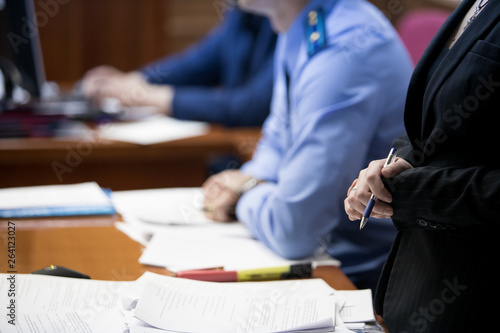 Valokuva  trial in the courtroom of the Russian Federation