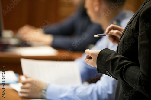 Obraz na plátne trial in the courtroom of the Russian Federation