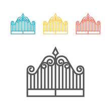 Gate Line Icon. Vector Sign For Web Graphic