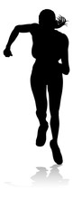 Silhouette Runner In A Race Track And Field Event